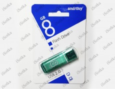 Флешка 8Gb Smart Buy Glossy series Green