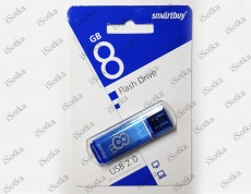 Флешка 8Gb Smart Buy Glossy series Blue