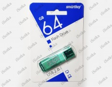 Флешка 64Gb Smart Buy Glossy series Green
