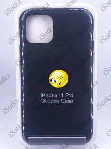 Чехол Apple iPhone 11 Pro Silicone Case №18 (Черный)