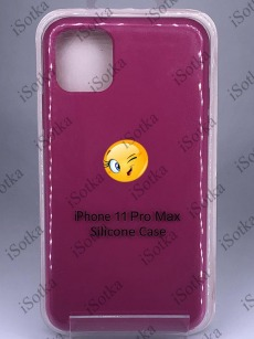 Чехол Apple iPhone 11 Pro Max Silicone Case №56 (Фуксия)