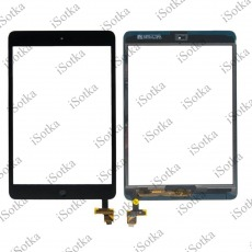 Тачскрин для Apple iPad mini / mini 2 + кнопка Home (A1489, A1490, A1432, A1454,A1455) (черный)